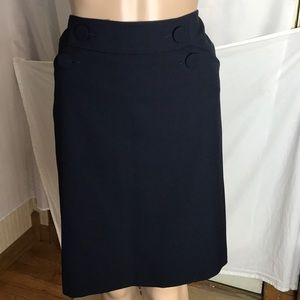Ann Taylor Pencil Skirt Size 6 Side Zip 2 Pockets